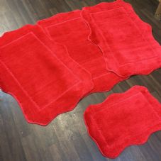 ROMANY WASHABLE TRAVELLERS MATS SET NON SLIP SUPER THICK RUGS RED NEW FOR 2019